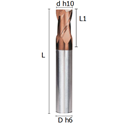 Picture of Two flutes regular end mill coated