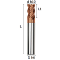 Picture of Roughing outlet end mill flute 45° coated