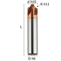 Picture of Corner-rounding cutter coated